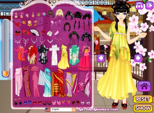 Asian Beauty Dress Up