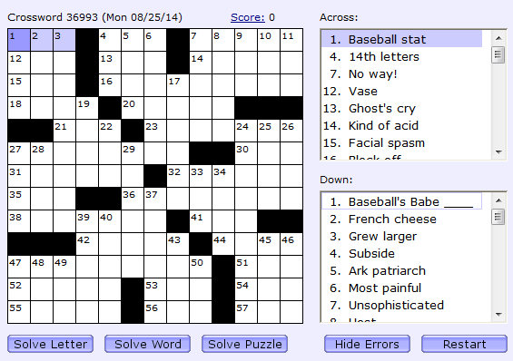 Daily Crossword | Boatload Puzzles (48 975 times)