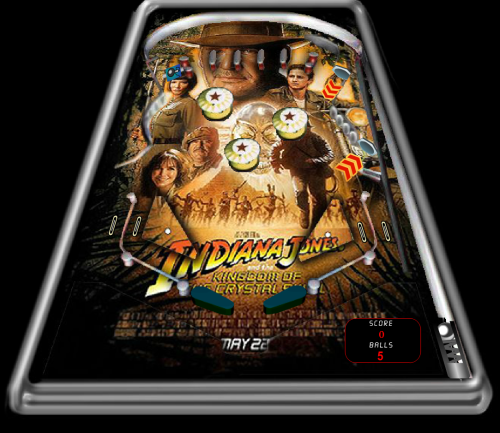 Indiana Jones and The Kingdom of he Crystal Skull Pinball